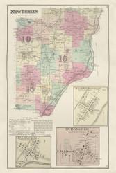 New Berlin, New York 1875 - Old Town Map Reprint - Chenango Co. Atlas
