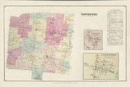 Coventry, New York 1875 - Old Town Map Reprint - Chenango Co. Atlas