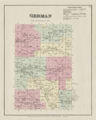 Greman, New York 1875 - Old Town Map Reprint - Chenango Co. Atlas