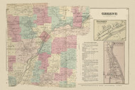 Greene, New York 1875 - Old Town Map Reprint - Chenango Co. Atlas