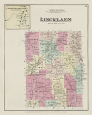 Lincklean, New York 1875 - Old Town Map Reprint - Chenango Co. Atlas