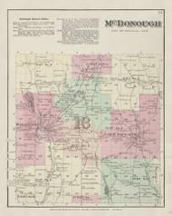 McDonough, New York 1875 - Old Town Map Reprint - Chenango Co. Atlas