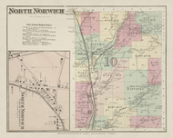 North Norwich, New York 1875 - Old Town Map Reprint - Chenango Co. Atlas