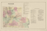 Norwich, New York 1875 - Old Town Map Reprint - Chenango Co. Atlas