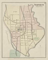 Norwich Village, New York 1875 - Old Town Map Reprint - Chenango Co. Atlas