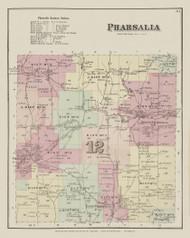 Pharsalia, New York 1875 - Old Town Map Reprint - Chenango Co. Atlas
