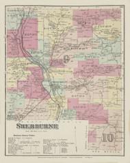 Sherburne, New York 1875 - Old Town Map Reprint - Chenango Co. Atlas