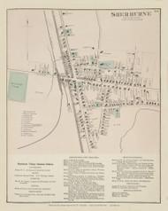 Sherburne Village, New York 1875 - Old Town Map Reprint - Chenango Co. Atlas
