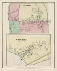 Earlville, New York 1875 - Old Town Map Reprint - Chenango Co. Atlas