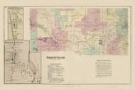 Smithville, New York 1875 - Old Town Map Reprint - Chenango Co. Atlas