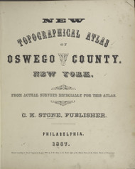 Title Page, New York 1867 - Old Town Map Reprint - County