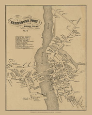 Kennebunkport Village Custom, Maine 1856 Old Town Map Custom Print - York Co.