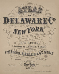 Title Page, New York 1869 - Old Town Map Reprint - Delaware Co. Atlas
