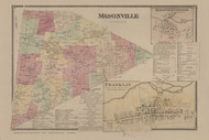 Masonville, New York 1869 - Old Town Map Reprint - Delaware Co. Atlas