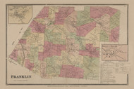 Franklin, New York 1869 - Old Town Map Reprint - Delaware Co. Atlas