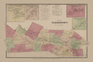 Davenport, New York 1869 - Old Town Map Reprint - Delaware Co. Atlas
