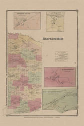 Harpersfield, New York 1869 - Old Town Map Reprint - Delaware Co. Atlas