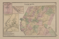 Tompkins, New York 1869 - Old Town Map Reprint - Delaware Co. Atlas