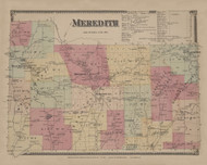Meredith, New York 1869 - Old Town Map Reprint - Delaware Co. Atlas