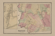 Hancock, New York 1869 - Old Town Map Reprint - Delaware Co. Atlas