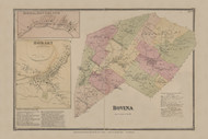 Bovina, New York 1869 - Old Town Map Reprint - Delaware Co. Atlas