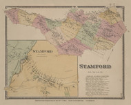 Stamford, New York 1869 - Old Town Map Reprint - Delaware Co. Atlas