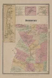 Roxbury, New York 1869 - Old Town Map Reprint - Delaware Co. Atlas