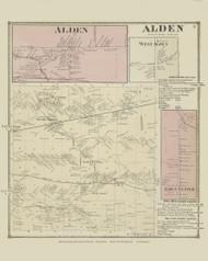 Alden, New York 1866 - Old Town Map Reprint - Erie Co. Atlas