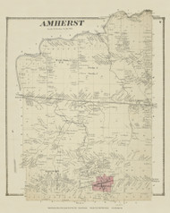 Amherst, New York 1866 - Old Town Map Reprint - Erie Co. Atlas