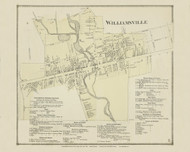 Williamsville, New York 1866 - Old Town Map Reprint - Erie Co. Atlas
