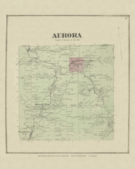Aurora, New York 1866 - Old Town Map Reprint - Erie Co. Atlas