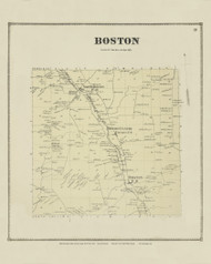 Boston, New York 1866 - Old Town Map Reprint - Erie Co. Atlas