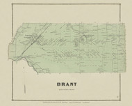 Brant, New York 1866 - Old Town Map Reprint - Erie Co. Atlas