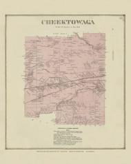 Cheektowaga, New York 1866 - Old Town Map Reprint - Erie Co. Atlas