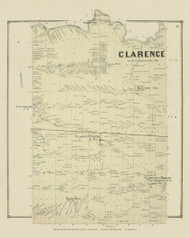 Clarence, New York 1866 - Old Town Map Reprint - Erie Co. Atlas