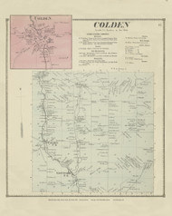 Colden, New York 1866 - Old Town Map Reprint - Erie Co. Atlas