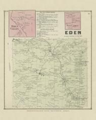 Eden, New York 1866 - Old Town Map Reprint - Erie Co. Atlas