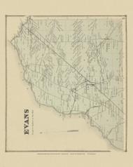 Evans, New York 1866 - Old Town Map Reprint - Erie Co. Atlas