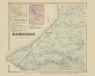 Hamburgh, New York 1866 - Old Town Map Reprint - Erie Co. Atlas