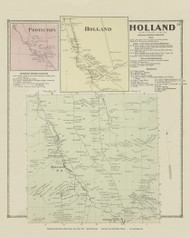 Holland, New York 1866 - Old Town Map Reprint - Erie Co. Atlas