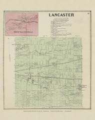 Lancaster, New York 1866 - Old Town Map Reprint - Erie Co. Atlas