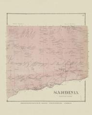 Sardinia, New York 1866 - Old Town Map Reprint - Erie Co. Atlas