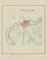 Tonawanda, New York 1866 - Old Town Map Reprint - Erie Co. Atlas