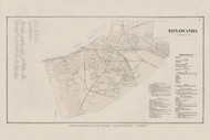 Tonawanda Village, New York 1866 - Old Town Map Reprint - Erie Co. Atlas