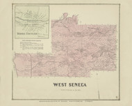 West Seneca, New York 1866 - Old Town Map Reprint - Erie Co. Atlas