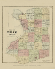 Erie County, New York 1866 - Old Town Map Reprint - Erie Co. Atlas