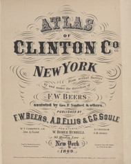 Title Page, New York 1869 - Old Town Map Reprint - Clinton Co. Atlas