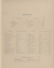 Index, New York 1869 - Old Town Map Reprint - Clinton Co. Atlas