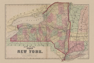State of New York, New York 1869 - Old Town Map Reprint - Clinton Co. Atlas