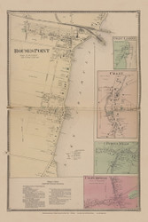 Rouses Point, New York 1869 - Old Town Map Reprint - Clinton Co. Atlas